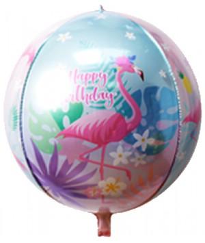 "22"" Printed Foil ORBZ 4D Balloons - Flamingo (060)"