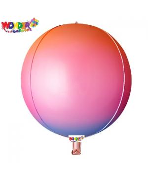 """22"""" OMBRE Foil ORBZ 4D Balloons - 023"""