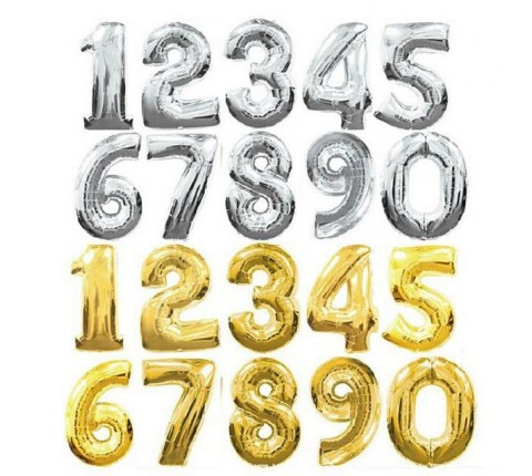 16 Inch Foil Number Balloons