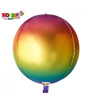 """22"""" OMBRE Foil ORBZ 4D Balloons - 024"""
