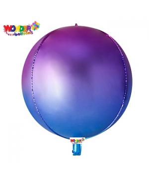 """22"""" OMBRE Foil ORBZ 4D Balloons - 026"""