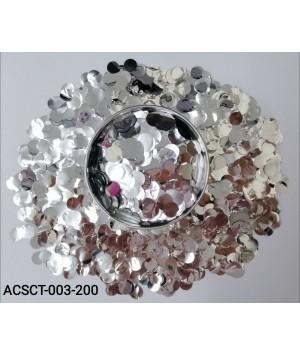 200gm-Round-Clear-Bubble-Balloon-Foil-Confetti-Silver