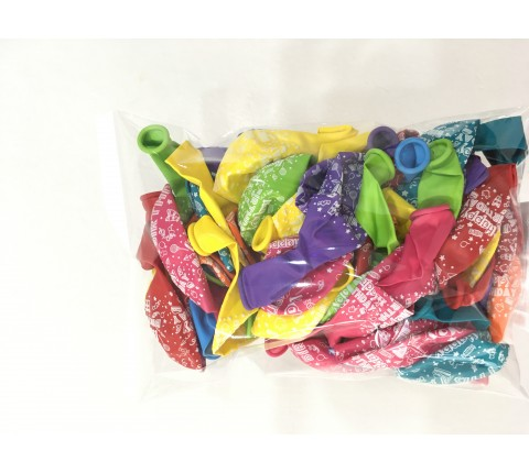"12"" Assorted Color Happy Birthday Balloons"