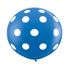 Blue-Round-Polka-Dots-Balloon