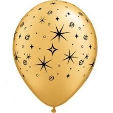 Golden-Round-Sparkling-Balloon