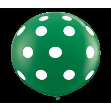 Green-Round-Polka-Dots-Balloon