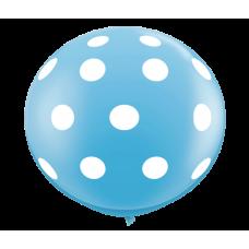 Light-Blue-Round-Polka-Dots-Balloon