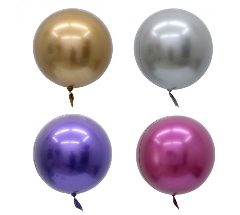 Metallic Colored Bubble Balloons