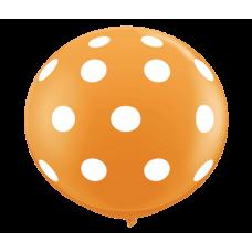 Orange-Round-Polka-Dots-Balloon