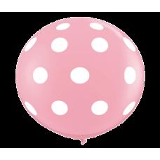 Pink-Round-Polka-Dots-Balloon