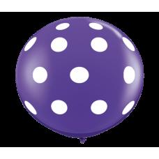 Purple-Round-Polka-Dots-Balloon