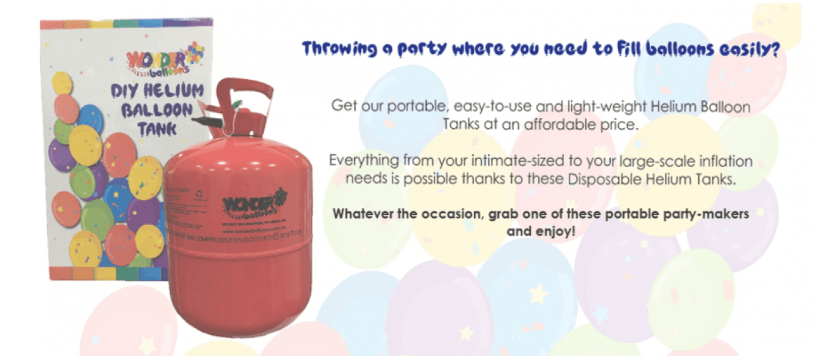 DIY Disposable Helium Balloon Tanks Wonder Balloons Malaysia