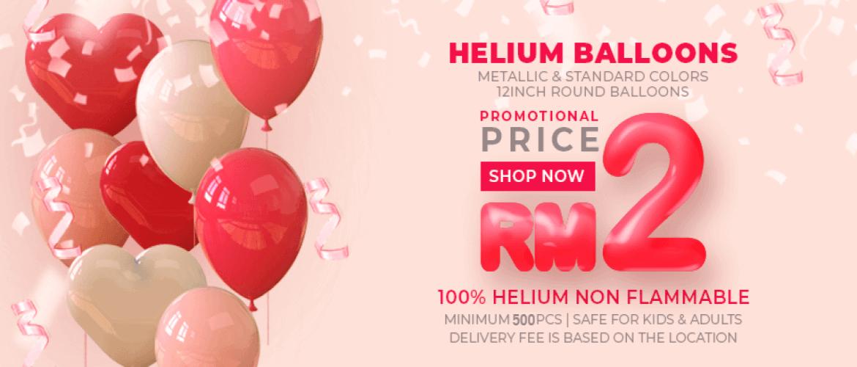 RM2 Helium Balloon Wonder Balloons Malaysia
