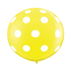 Yellow-Round-Polka-Dots-Balloon