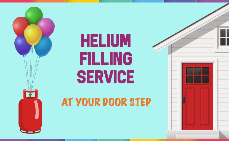 Helium filling service at your door step