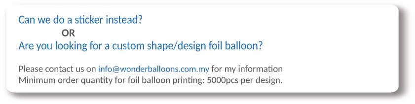 Foil Balloons Order